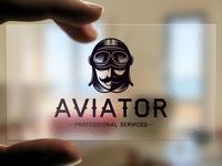 Aviator Head Logo Template
