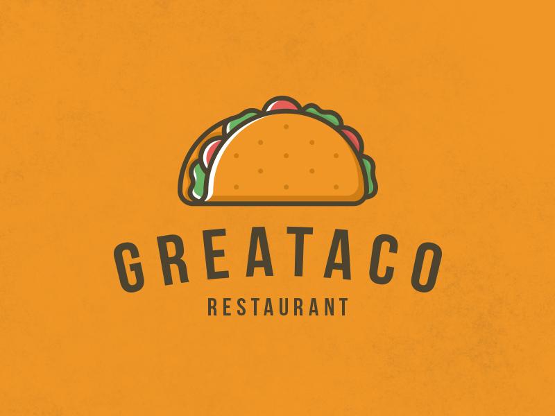 delicious taco logo template by alberto bernabe dribbble dribbble