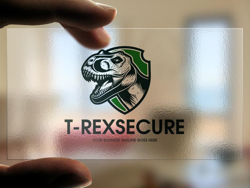 t rex secure logo template by alberto bernabe dribbble dribbble
