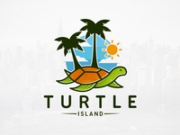 Turtle Resort Logo Template