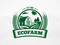 Eco Farm Crest Logo