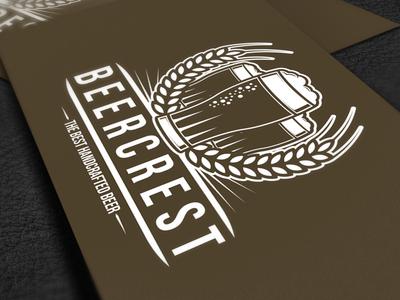 Beer Crest Logo Template