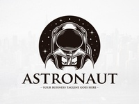 Astronaut Space Logo Template
