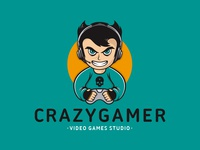 Crazy Gamer Logo Template