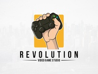 Revolution Games Logo Template