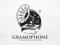 Old Gramophone Logo Template