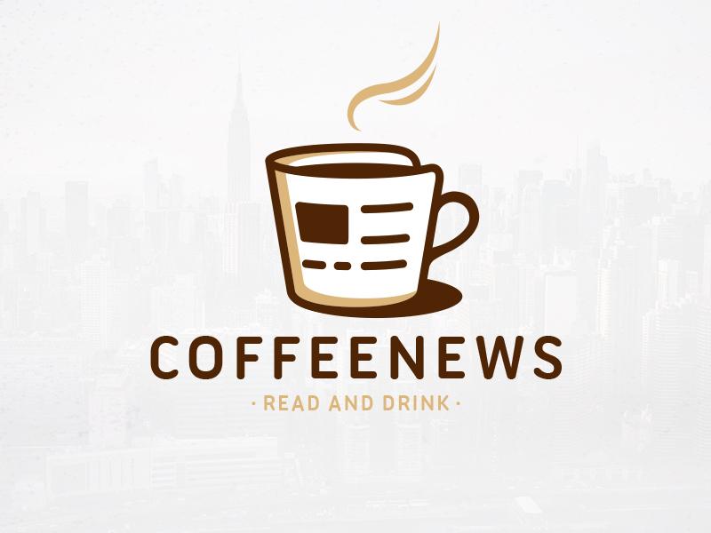 Coffee news logo template by alberto bernabe dribbble dribbble presentation 800x600 maxwellsz