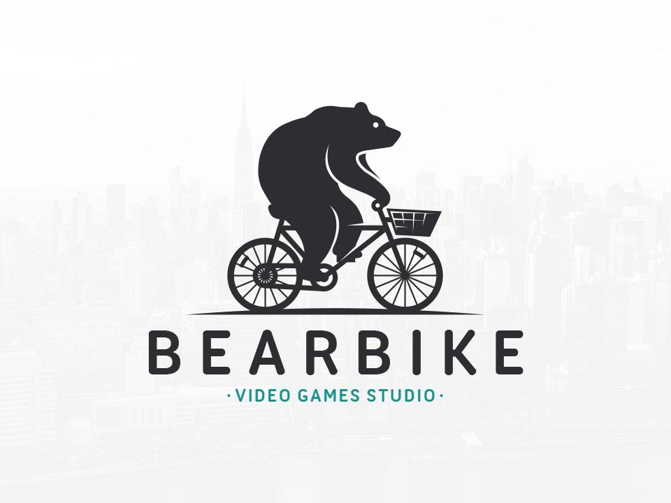 bear bike logo template by alberto bernabe dribbble dribbble