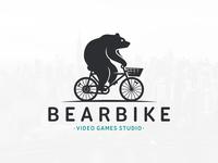 Bear Bike Logo Template