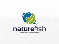 Nature Fish Logo Template