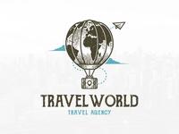 Travel World Agency Logo