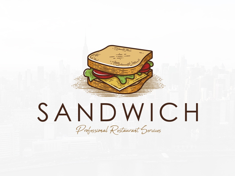 sandwich shop logo template by alberto bernabe dribbble dribbble