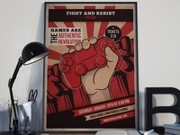 Revolution Games Flyer Template