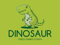 Dino Kid Mascot Logo
