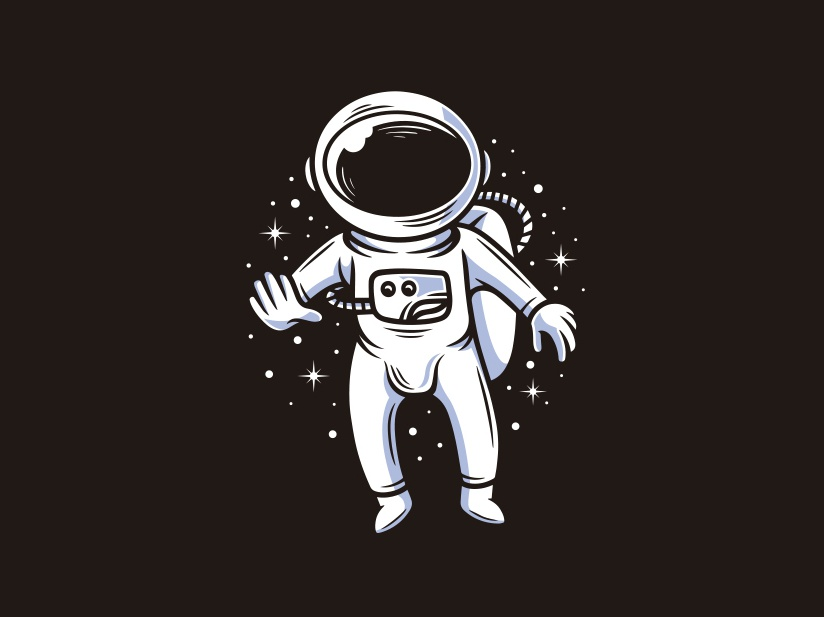 Cosmonaut Adventure Logo Template by Alberto Bernabe on Dribbble