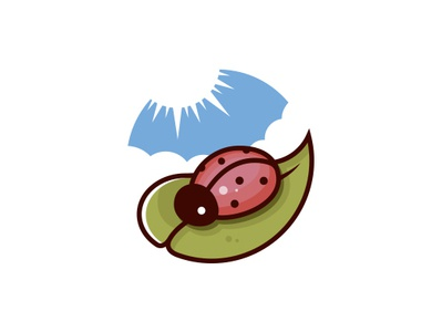 Ladybug Logo (for sale) animal mascot bug sun clouds sky nature leaf ladybird ladybug cartoon art freelance logo designer logo design clean design branding vector illustrative logotype illustration brand identity creative design stock logo