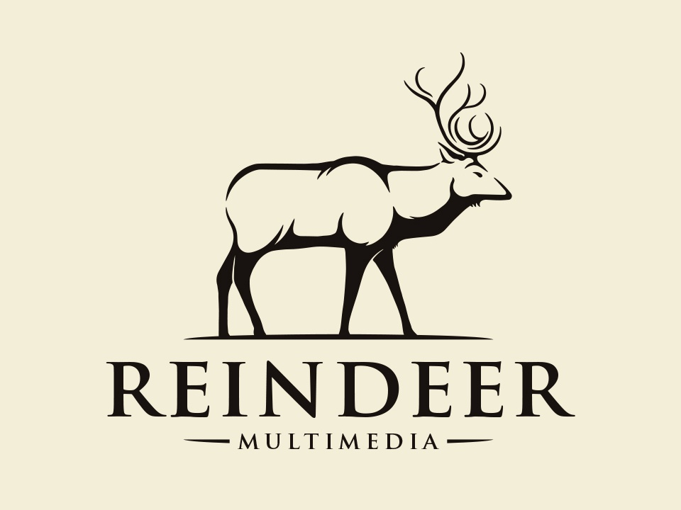 Nature Reindeer Vintage Logo elk hunter horns moose forest logo mark animal reindeer deer freelance logo designer vector clean design branding illustrative logotype logo design illustration brand identity creative design stock logo logo template