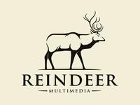 Nature Reindeer Vintage Logo