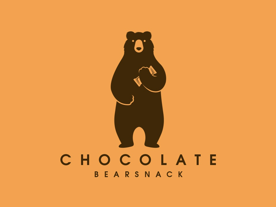 Bear Chocolate Snack Logo graphicriver restaurant food snack bar honey bear illustration animal chocolate snack bear freelance logo designer logo design clean design branding vector illustrative logotype brand identity creative design stock logo logo template