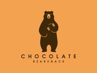 Bear Chocolate Snack Logo
