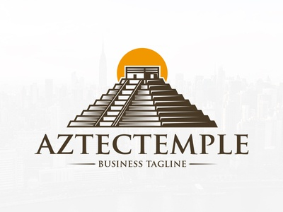 Aztec Temple Logo Template