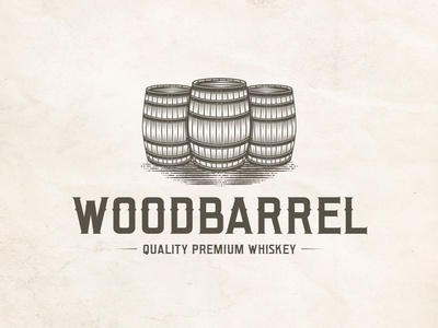 Barrel Whiskey Logo Template
