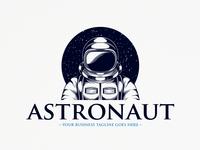 Human Astronaut Logo Template