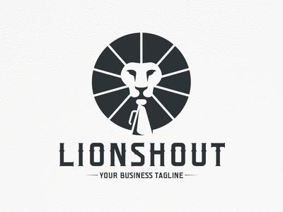 Lion Bullhorn Logo Design