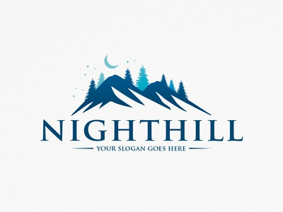 Night Forest Logo Template