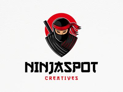 Ninja Spot Logo Template