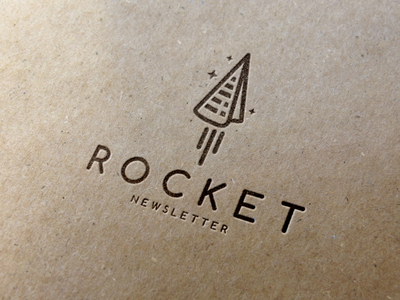Paper Rocket Logo Template