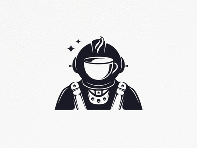 Astronaut Coffee Logo (logo for sale)