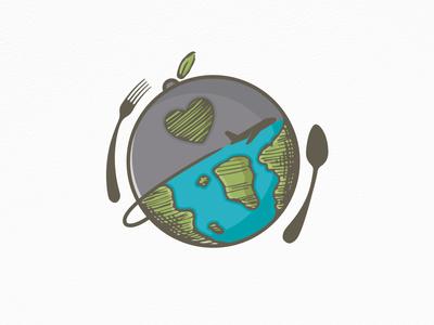 Travel Food Logo (logo for sale)