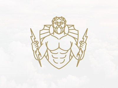 Zeus God Of Thunder Logo