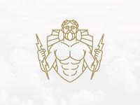 Zeus God Of Thunder Logo (logo for sale)