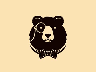 Gentleman Bear Logo (logo for sale)