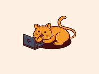Geek Cat Logo (logo for sale)