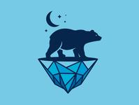 Polar Bear Iceberg Logo