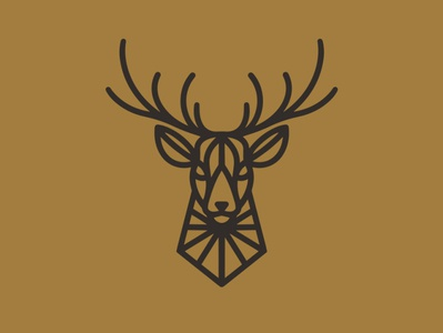 Geometric Deer Logo (logo for sale)