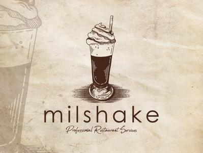 Chocolate Milkshake Logo Template