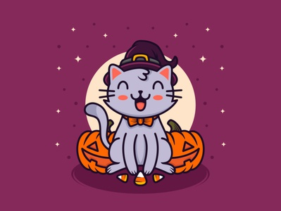 Happy Hallowen Cat
