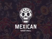 Dia de Muertos Skull Logo Template