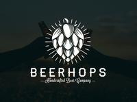 Beer Hops Crest Logo Template