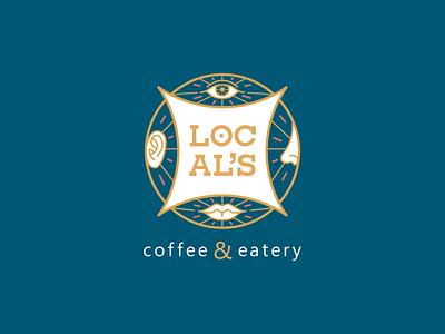 Local S Logo Dribble restaraunt caffee graphic  design illustration branding logo