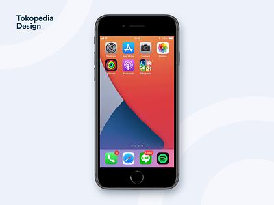 Tokopedia iOS Widget chat transaction design apple ios14 ios illustration app ux ui product