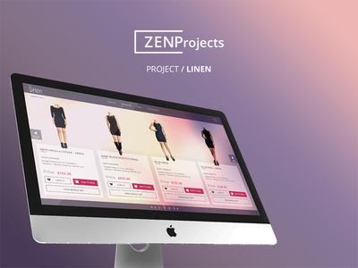 Zenp Projects ux e-commerce branding modern lean clean ui zenp