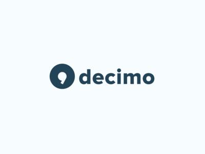 Decimo Brand logotype mark clean identity logo brand