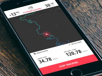 Snowboarder native snowboard sport navigation map tracking ios app