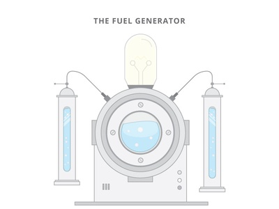 The Fuel Generator gadget vector tech robotic robot iot illustration