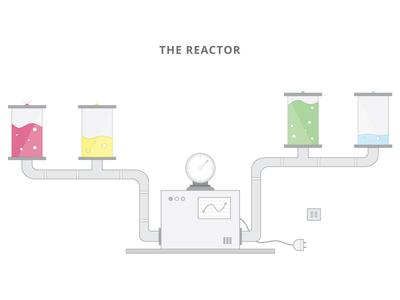 The Reactor illustration iot robot robotic tech vector gadget